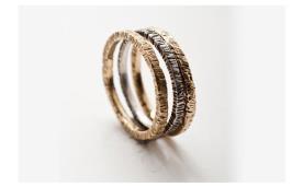 טבעת שלוש חישוקים מחוספסת