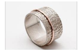 טבעת רחבה רקועה לכלה