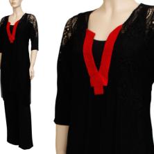 שמלת ערב צווארון אדום