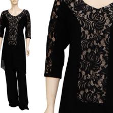 שמלת ערב תחרה שחורה