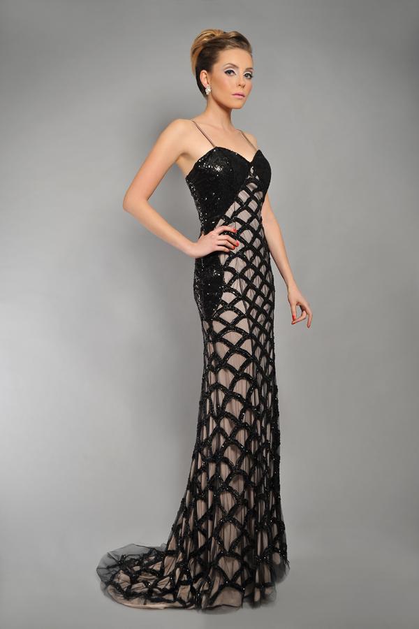 שמלת ערב איקסים שחורה