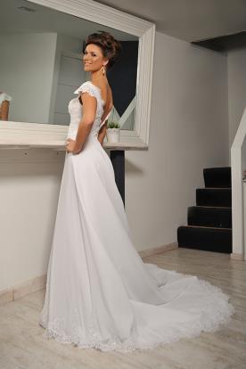 שמלת כלה רחבה עשירה גב פתוח