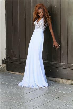 שמלת כלה בשילוב תחרה