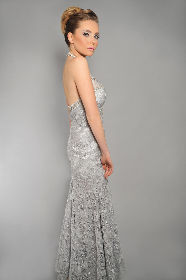 שמלת ערב כסופה עשירה