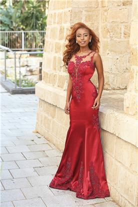 שמלה אדומה לערב