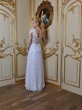 שמלת כלה גב תחרה פתוח