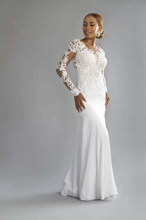 שמלת כלה עם שרוולים מיוחדים