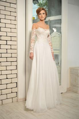 שמלת כלה אוף שולדר שרוול ארוך