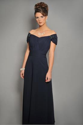 שמלת ערב אלגנטית אוף שולדר
