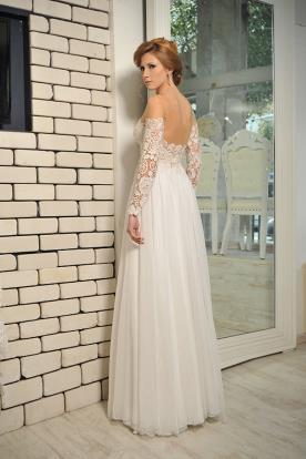 שמלת כלה אוף שולדר תחרה מיוחדת