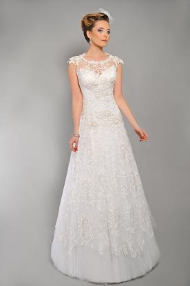 שמלת כלה תחרה נסיכתית עדינה