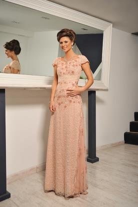 שמלת ערב צנועה קלאסית