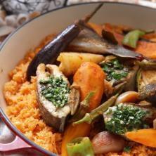 מנת דגים ואורז
