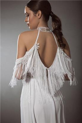 שמלה כלה עם פרנזים
