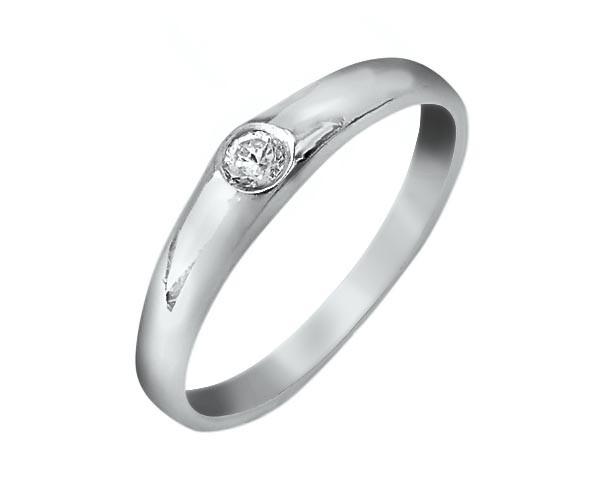 טבעת אירוסין קלאסית יהלום אחד