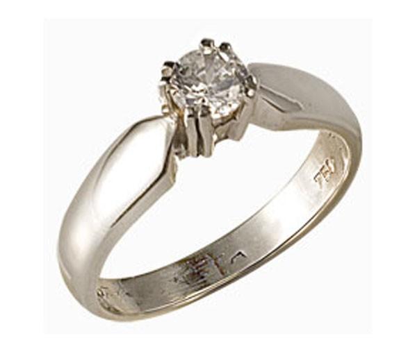טבעת אירוסין זהב לבן מאט