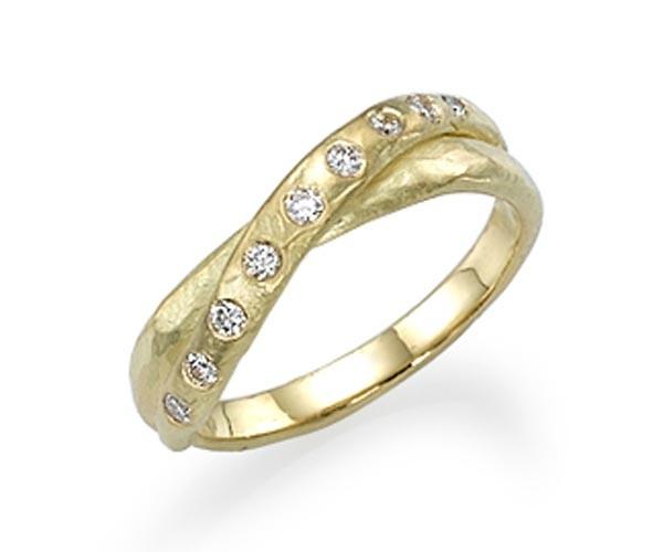 טבעת אירוסין קלעוה זהב צהוב