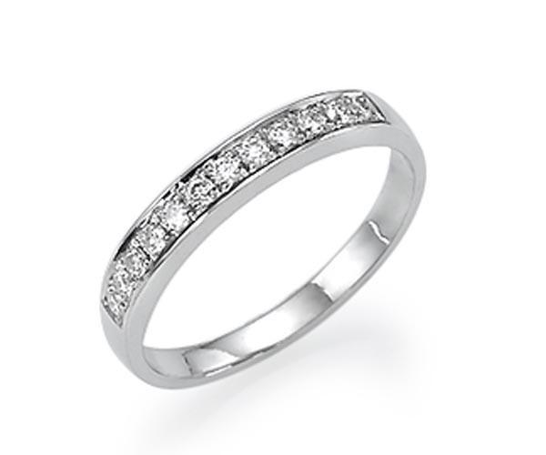 טבעת אירוסין שורת יהלומים רחבה