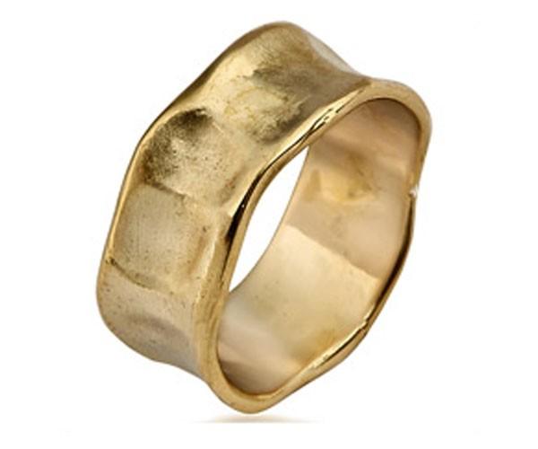 טבעת נישואין גלית בסגנון גולמי