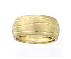 טבעת נישואין ריקוע גלי