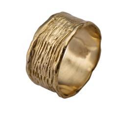 טבעת נישואין גלית ומרוקעת