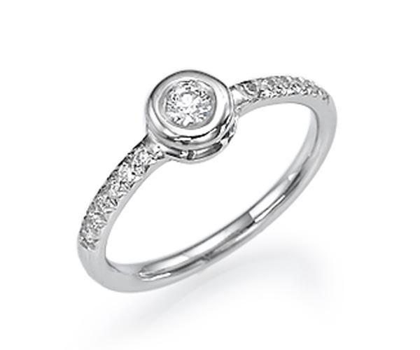 טבעת אירוסין קלאסית עגולה