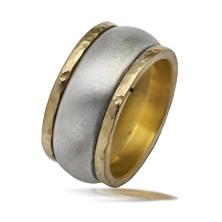 טבעת עבה שני פסים