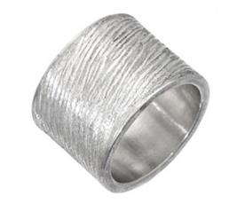 טבעת נישואין רחבה זהב לבן