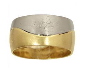 טבעת נישואין: תכשיט לאישה, תכשיט מזהב לבן, תכשיט מזהב צהוב, תכשיט בעיצוב גלי, תכשיט בסגנון רחב - רוטר דב