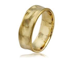 טבעת נישואין גלית מזהב צהוב