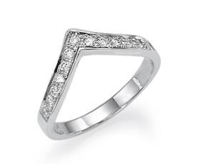טבעת אירוסין בצורת טיפה