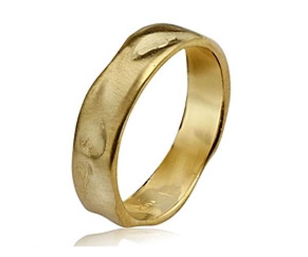 טבעת נישואין ריקועים גליים