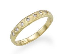 טבעת אירוסין זהב צהוב גולמי