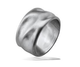 טבעת נישואין זהב לבן קמורה