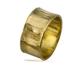 טבעת נישואין קעורה רחבה זהב