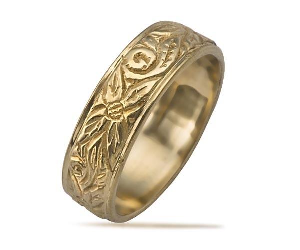 טבעת נישואין פרחים עדינים
