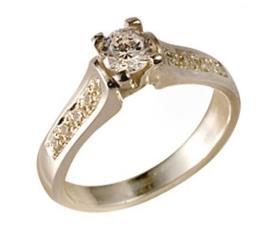 טבעת אירוסין זהב צהוב מאט