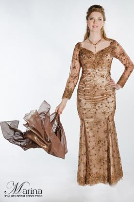 שמלה לערב מקסי פייטים