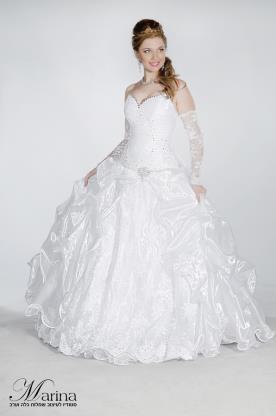 שמלת כלה עם כפפות תחרה