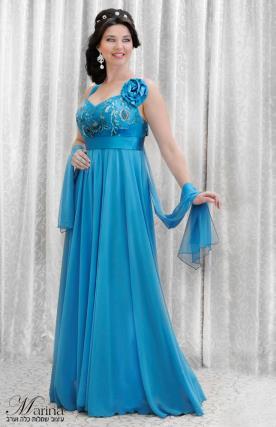 שמלת ערב מקסי עם פרח