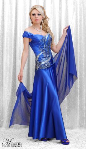 שמלת ערב עם חצאית חלקה