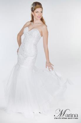 שמלת כלה עם מלמלות שיפון