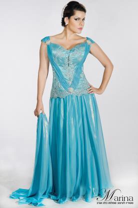 שמלת ערב מקסי מחוך
