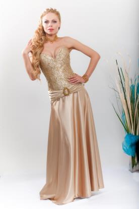 שמלת ערב מקסי עם מחשוף