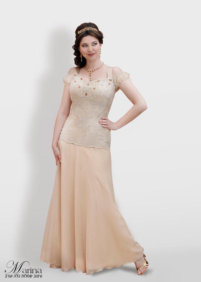 שמלת ערב מקסי עם אבנים