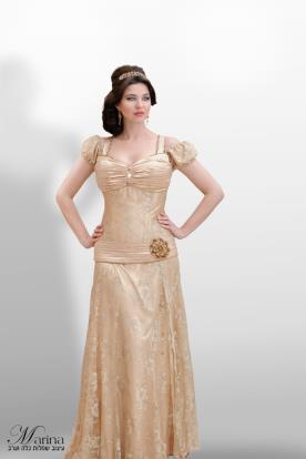 שמלת ערב עם כתפיות ושרוולים