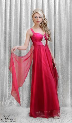 שמלת ערב עם מעויין אבנים