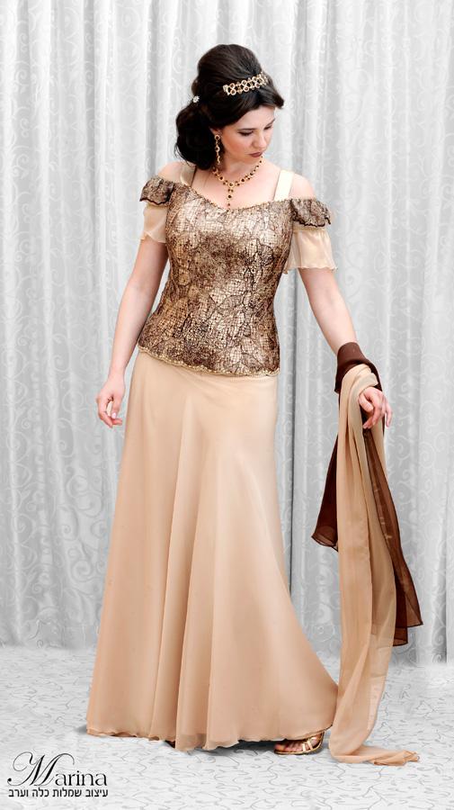 שמלת ערב מקסי בשני חלקים