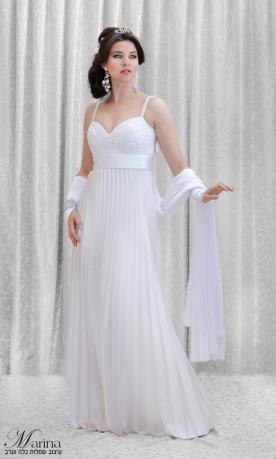 שמלת כלה חגורת מותן חלקה
