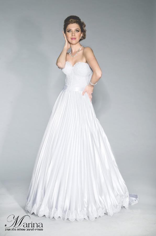 שמלת כלה פליסה ותחרה